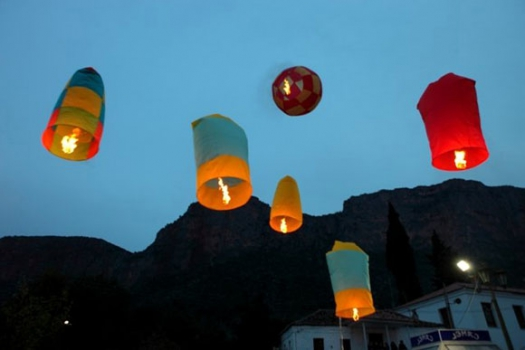 Air balloons at Leonidio
