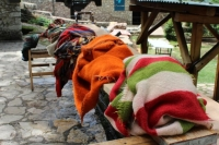 Revival of traditional washing cloth at water mill