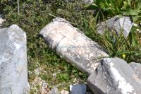 Dodecanese - Chalki - Marble Columns remnants of the Ancient temple of God Apollo