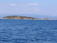The islet Peristeri in the bay of Vourvourou, Chalkidiki