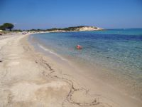 View of the beach Mikro Karydi in Vourvourou in east Sithonia