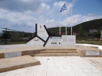 The monument in memory of the victims of the helicopter crash in 2004