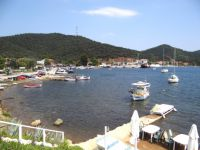 Panoramic view of the village Porto Koufo in Sithonia, Chalkidiki