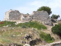 Likithos Castle on the beach of Toroni, Sithonia, Chalkidiki