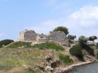 Likithos Castle on the beach of Toroni, probably from the medieval ages