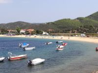 View of the seaside village Toroni in Sithonia