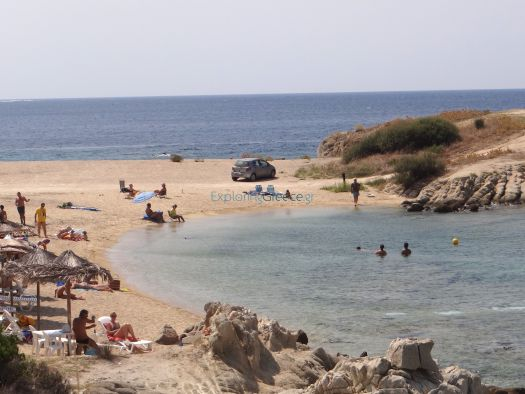 Korakas beach, right next to Toroni beach