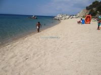 View of the beach of Toroni in Sithonia, Chalkidiki