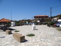 Square by the sea in Ormos Panagias, Chalkidiki