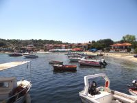 The picturesque fish village Ormos Panagias, located between Agios Nikolaos and Vourvourou