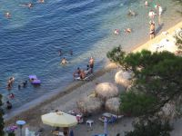 The beach at Zografou is accessible only through the camping Porto Elea