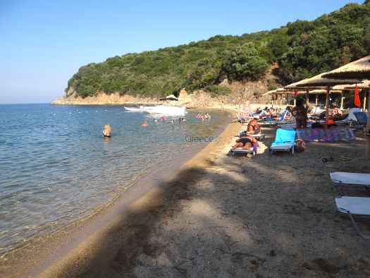 View of the Banana beach in Sithonia, Chalkidiki