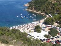 Panoramic view of Akti Oneirou on the second leg of Chalkidiki