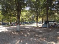 View of the municipal camping in Platanitsi, Sithonia, Chalkidiki