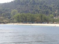 Achlada beach, where a municipal camping is located