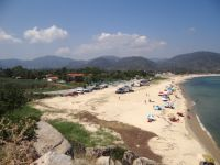 The long beach of Sykia in front of the village on the 2nd leg of Chalkidiki