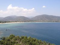The village Paralia Sykias has a very long beach, Sithonia, Chalkidiki