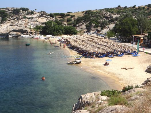 Panoramic view of the beach Tourkolimnionas on the 2nd leg of Chalkidiki