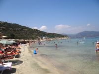 View of the beach Klimataria, close to Kriaritsi in Sithonia, Chalkidiki
