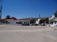 Pounta Square at the entrance of the village of Chora in Folegandros