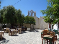 Piatsa Square is one of the busiest in the village of Chora