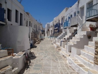 Classic picture of one of the neighborhoods of Kastro in Chora
