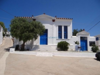 The building of the elementary school in Chora, built in the early 20th century