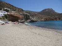 The famous beach of Agali in Folegandros
