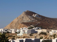View of Chora and in the background the church of Panagia