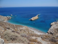 Katergo beach in south Folegandros from high above