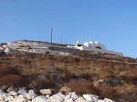 The most famous church of Folegandros, Panagia stands on a hill above Chora