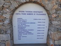 Cyclades - Folegandros - Chora - Useful Phone Numbers