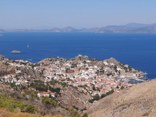 Hydra View from Matronis Monastery
