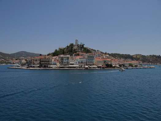 Poros - Hill with Clock Tower