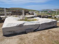 Cyclades - Delos - Base of Colossus of the Naxians