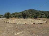 Poros - Sanctuary of Poseidon - Old threshing