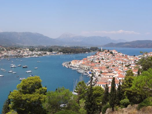 Poros -View from Agii Anargiri