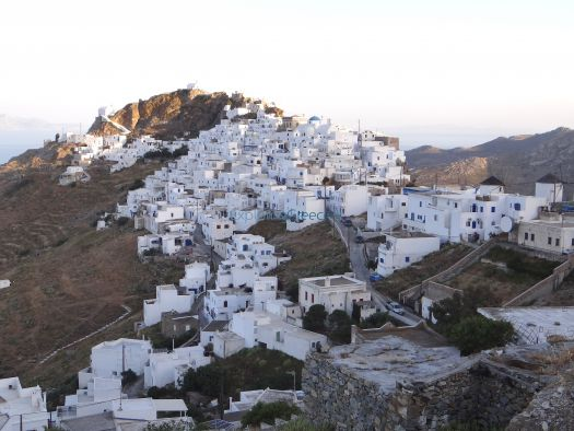 Pano Chora is one of the most picturesque in the Aegean