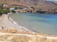 The beach in front of the village Megalo Livadi