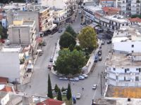 Eleftheria's square in the center of Sidirokastro