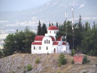 The monastery of Sotiros, built on a hill overlooking Sidirokastro