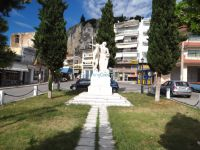 The statue of Alexander the Great in the central square of Sidirokastro