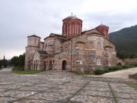 The impressive church of the holy monastery of Timiou Prodromou
