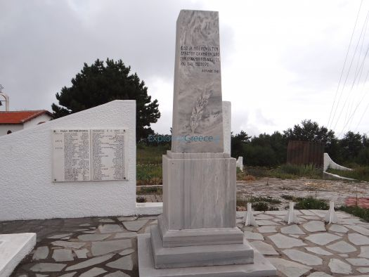 Memorial monument for the soldiers that died during the Battle of the Forts in 1941