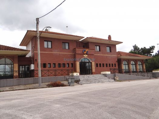 The railway station of Promachonas, very close to the the borders to Bulgaria
