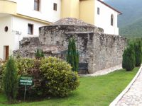 The exterior view of the old byzantine hamam in Agistro, Serres