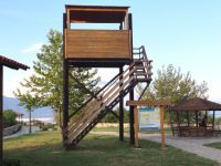 One of the five observation towers is located on the small port of the village Kerkini