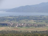 View of Kerkini Lake from high above