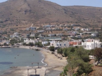 The seaside village Finikas on the west part of Syros