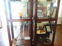 Vinyl records, photos and bouzouki in the  Markos Vamvakaris Museum in Ano Syros